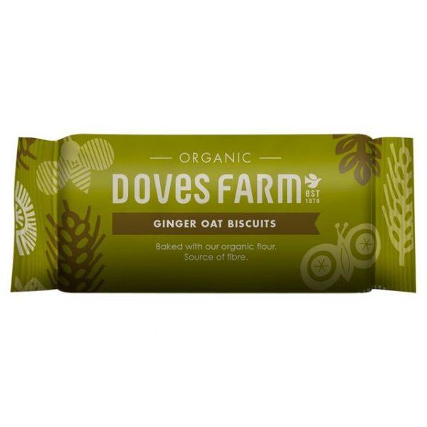 biscuiti din ovaz cu ghimbir organici doves farm