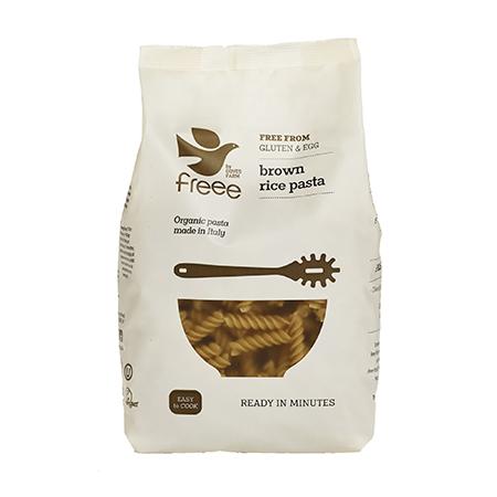 fussili din orez fara gluten de la Doves Farm